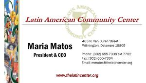 Maria Matos, President & CEO LACC