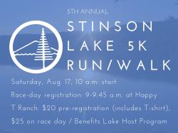 Stinson Lake 5 K Run/Walk