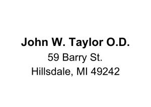 John W. Taylor O.D.