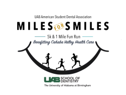 16th Annual Alabama ASDA Miles for Smiles