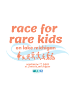 Race For Rare Kids on Lake Michigan 5K and 1K Kids Dash