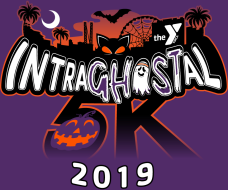 YMCA IntraGHOSTal 5K & Kids Fun Run Logo