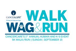 Cancer Care - 1st Annual New Jersey Walk, Wag & Run