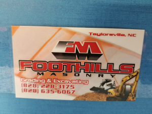 Foothills Masonry & Excavation, LLC