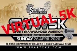 SPARTYKA FOUNDATION PRESENTS Wounded Warrior VIRTUAL 5K RUN/WALK & 1 MILE WALK