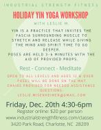 Holiday Yin Yoga Workshop