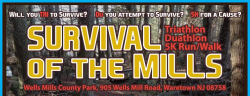 Survival of the Mills - 7 stage triathlon, 5 stage duathlon and 5k trail run #