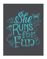 She Runs For Fun
