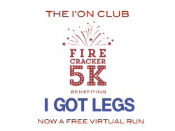I'On Club Firecracker Virtual 5K Benefiting I GOT LEGS