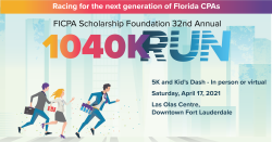 32nd Annual FICPA 1040K Run In-Person and Virtual