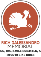 Rich Dalessandro Memorial Fall Turkey 5K, 10K, 2 Mile Run/Walk, 10/25/50 Bike Ride, & Kids' Fun Run