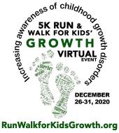 Human Growth Foundation (VIRTUAL) 5K Run & Walk for Kids' Growth