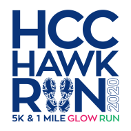 HCC Hawk Run 5K--GLOW RUN Virtual Event!