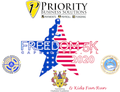Priority Business Solutions Freedom 5K Run/Walk & Gunterberg Charitable Foundation Kid's Fun Run   *(Virtual Run - July 4th-September 5th. In person race day - September 5th)