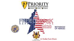 Priority Business Solutions Freedom 5K Run/Walk & Gunterberg Charitable Foundation Kid's Fun Run   *(Virtual Run - July 4th-October 17th. In person race day - October 17th)