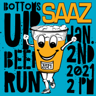 Bottoms Up Beer Run 4K (approx. 2.5 miles)