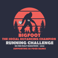 Bigfoot...The Social Distancing Champion's Running Challenge Logo