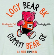 The Logy Bear 8K, Gummy Bear 5K, and 1 Mile Fun Run