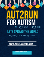 Aut2Run For Autism Virtual 5k 10k Half Marathon