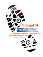 Virtual 5K Run/Walk For The Lebanon County Community Support Fund