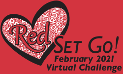 Red, Set, Go - February Heart Healthy Virtual Run / Walk / Swim