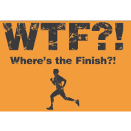 The WTF virtual race - Where's The Finish 5k, 10k , Half Marathon