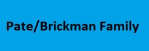 Pate/Brickman Family