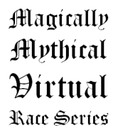 Magically Mythical Virtual Race Series