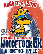 Woodstock 5K - RRCA National 5K Championship August 4, 2018