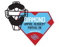 Diamond Umpire Academy Virtual 5k for neverthirst