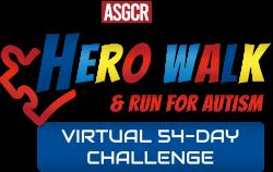 ASGCR Hero Walk & Run for Autism - Virtual 54 Day Challenge!