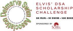 Elvis' DSA Scholarship 1K Swim/10K Bike/5K Run Challenge Logo