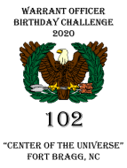 US Army Warrant Officer 102nd Birthday Virtual Challenge