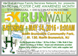 Harvest of Hope 5K Run Walk: Destination Home, Be a Champion for Children