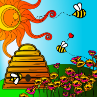 Hubert Celebrates Honey Bees