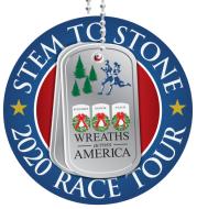 Wreaths Across America Stem to Stone 2020 Race Tour VIRGINIA BEACH