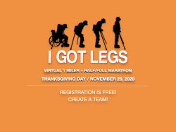 I GOT LEGS: Virtual 1 Miler + Half/Full Marathon