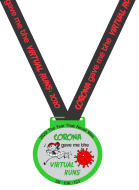 Corona Gave me the Virtual Runs 5K/10K/13.1