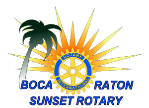 Sunset Rotary Club Boca Raton