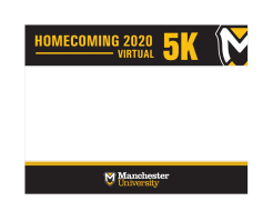 Manchester University's Homecoming Virtual 5k