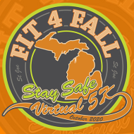Fit 4 Fall Stay Safe Virtual 5K Challenge Logo