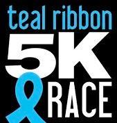 Teal Ribbon 5k Run Walk For Ovarian Cancer Awareness