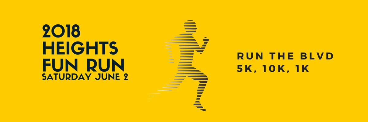 Houston Heights  5K & 10K Fun Run Banner Image