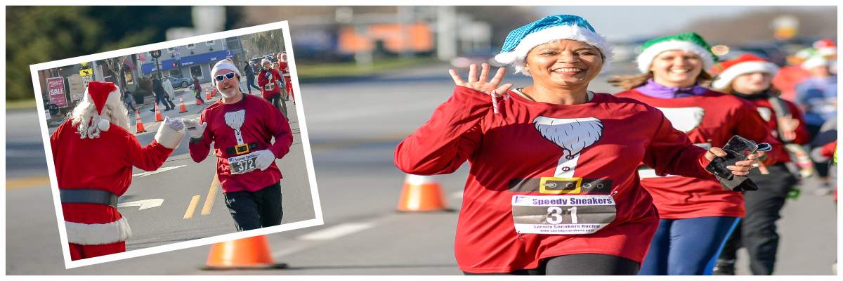 The Santa Race 5k and Little Reindeer Dash Banner Image