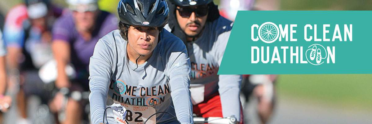 Come Clean Duathlon Banner Image