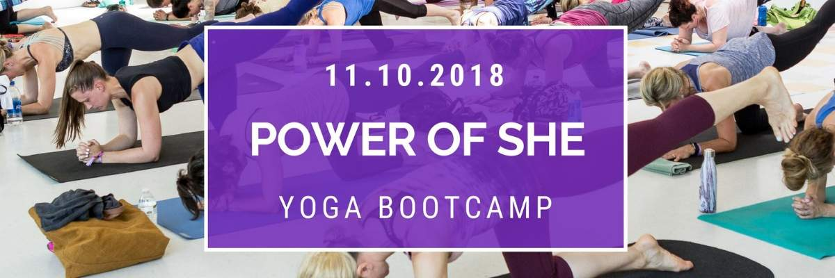The Power of She Yoga Boot Camp Banner Image