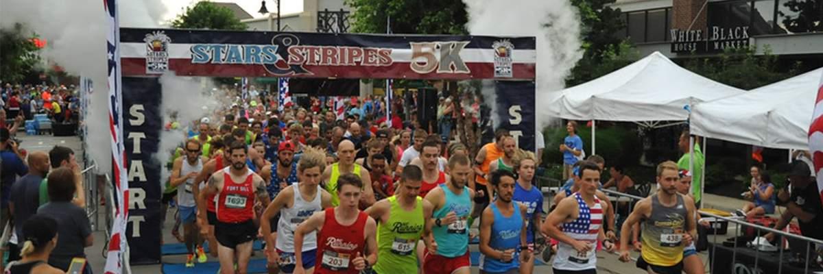 Stars & Stripes 5K & Lil' Firecracker Fun Run - Overland Park Banner Image