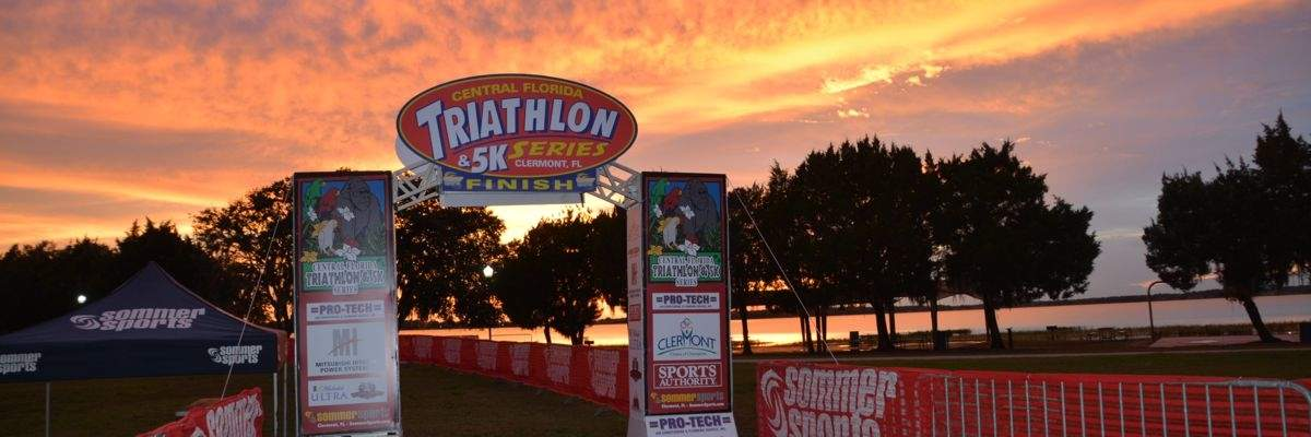 Lake Minneola Sunset Triathlon, Duathlon, AquaBike & 5K Banner Image