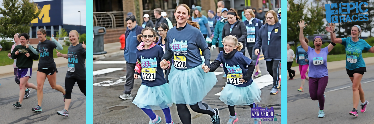 Suburban Chevrolet Ann Arbor Goddess 5K & Mile Fun Run Banner Image