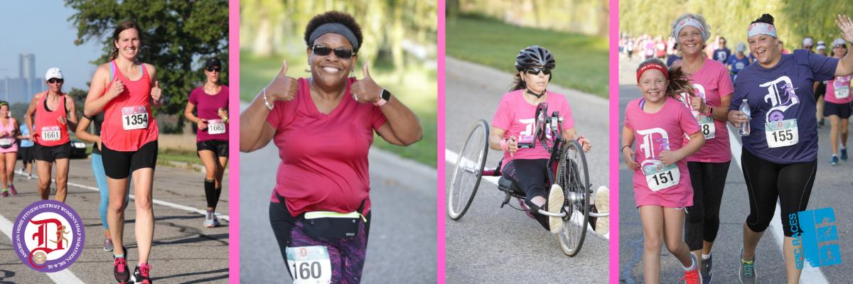 American Home Fitness Women Run the D: Detroit Women's Half Marathon, 10K, and 5K Banner Image